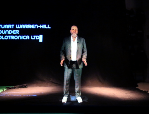 Hologauze Business Presentation as a Hologram [effect]